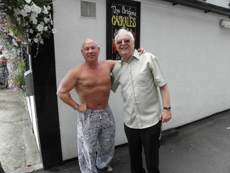 Johnny Muscles England and Jim Howard