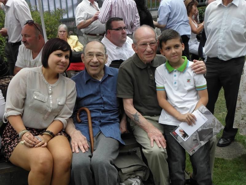 Peter Szakacs and Daughter, Joe D'Orazio and grandson.