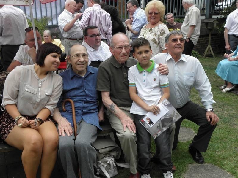 Peter Szakacs and daughter, Joe D'Orazio and grandson, Alan Sargeant.