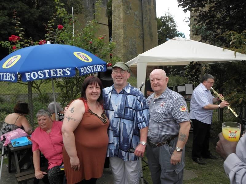 Tracey Kilby, Johnny Elijah and fan.