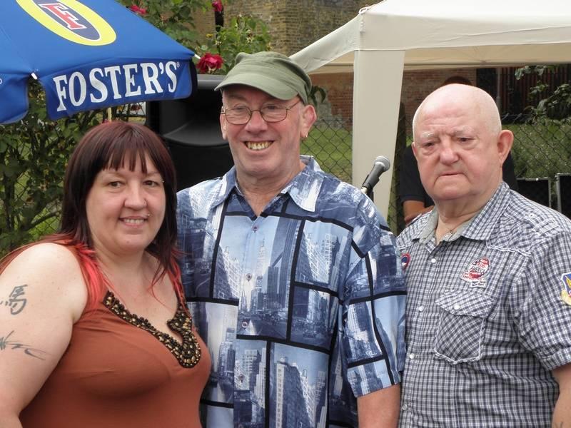 Tracey Kilby, Johnny Elijah and fan