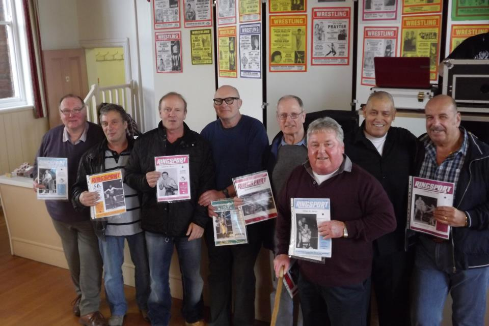 Ringsport recipients-Marty Jones, Steve Grey,Mal Sanders,Lee Bronson,Johnny Saint,Jackie Robinson,Johnny Kincaid, Johnny South