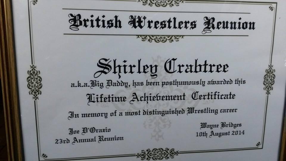 Bog Daddy's posthumous award