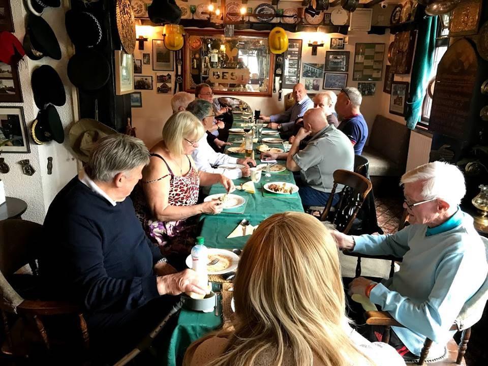 Everyone enjoying their lunch