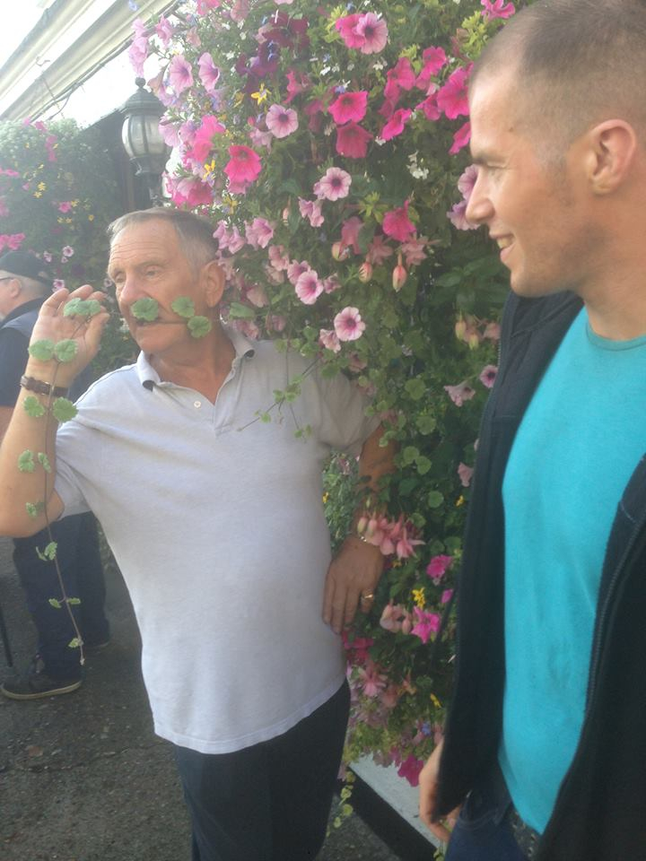 Frank Rimer amongst the flowers