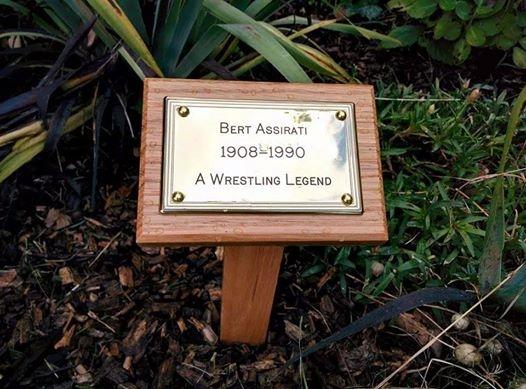 Bert Assirati plaque