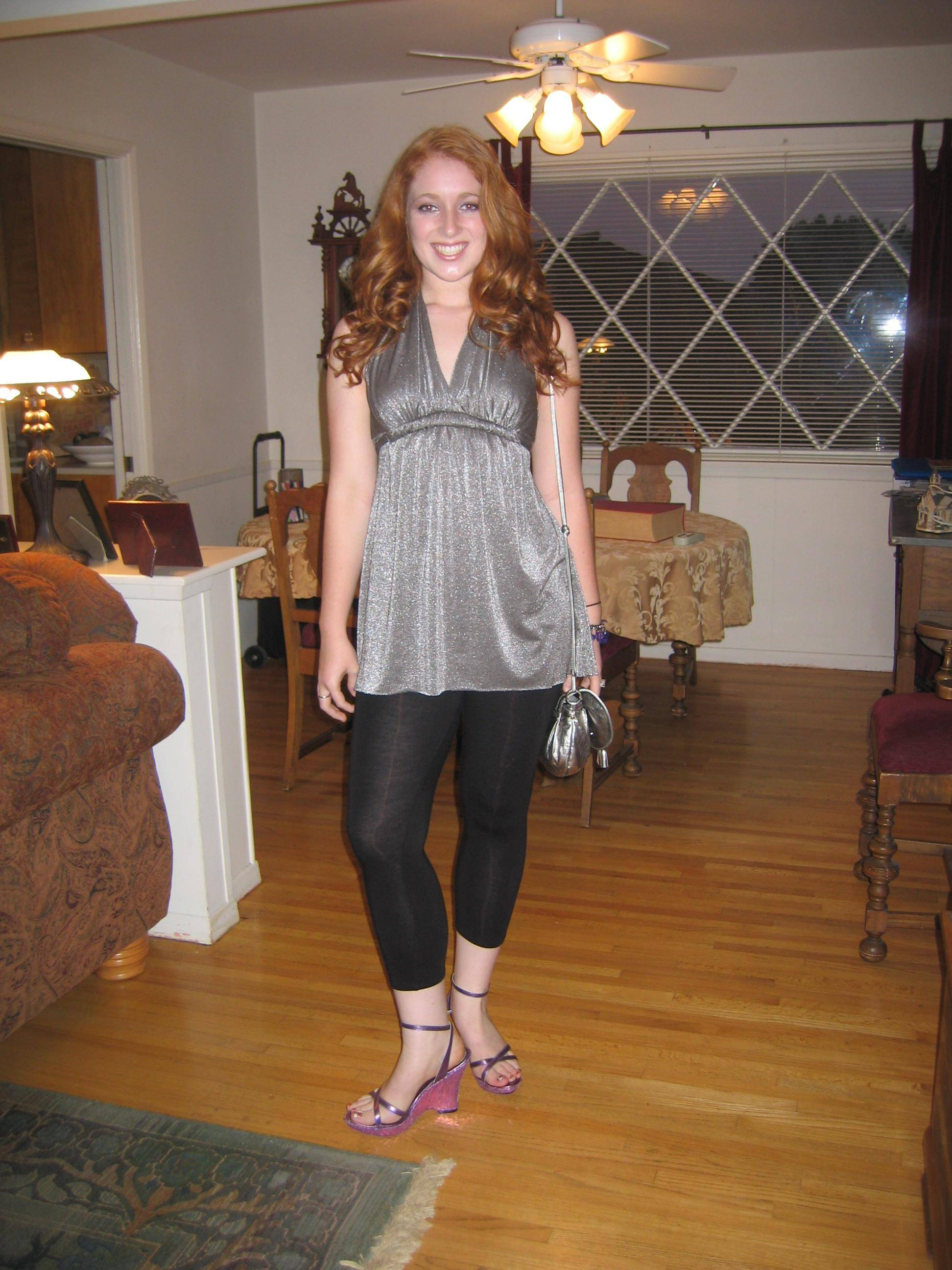 Meredith Ready for HS graduation party -  '08