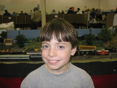 Matthew at Train Show in Virginia