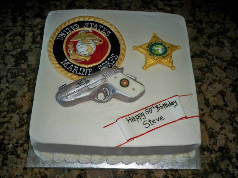 Marine birthday cake