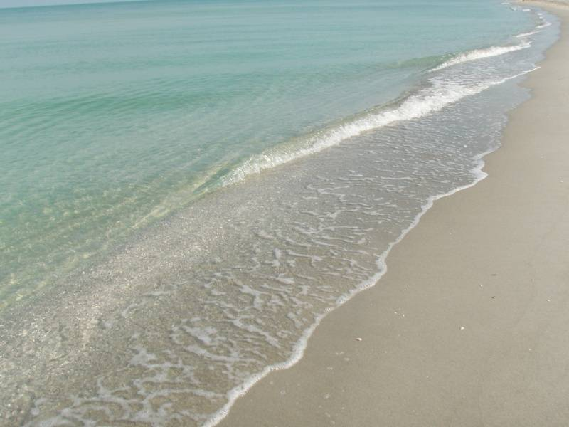 Pristine, clear water on windless days!