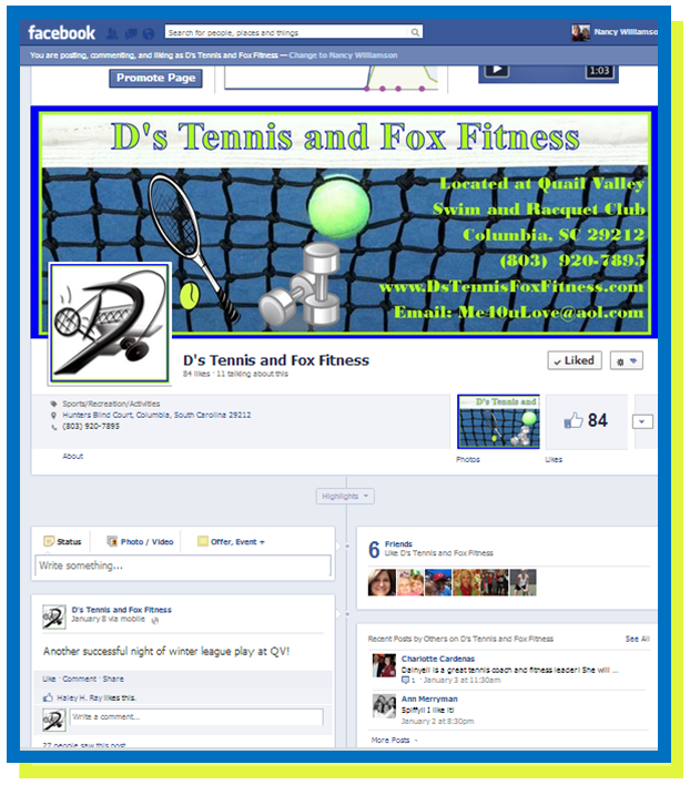 D's Tennis and Fox Fitness Facebook