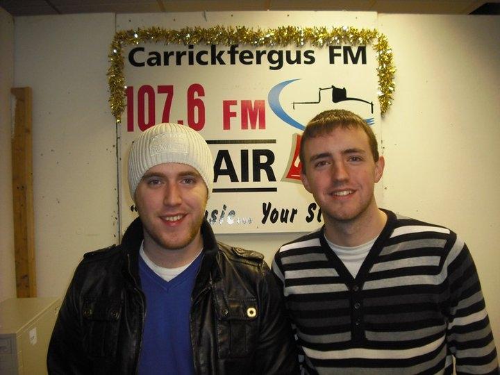 Local musician Gareth Brannigan with Michael