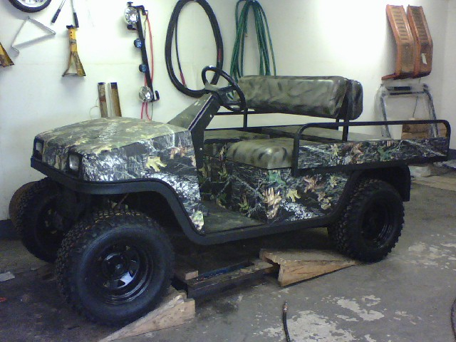 One of many golf carts sold