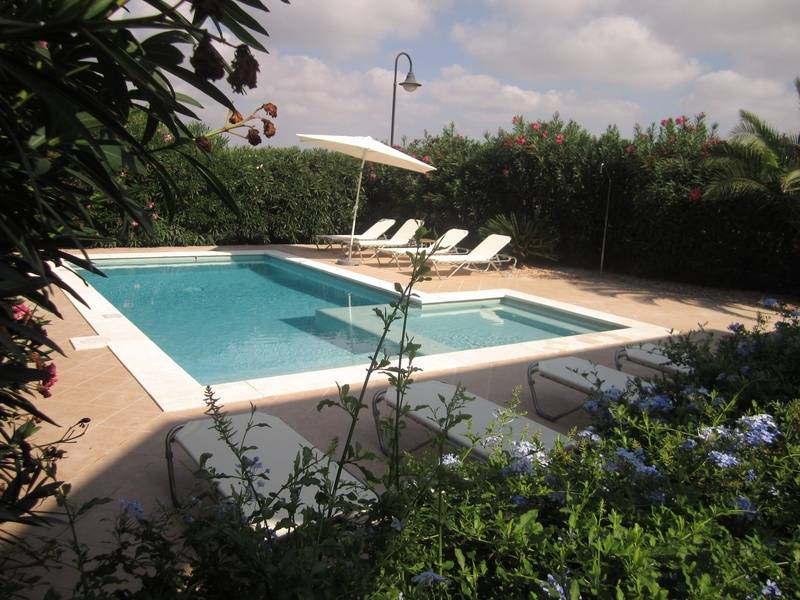 heated pool from lower terrace