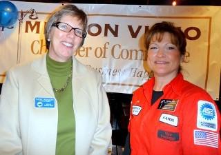 Cathy and Chamber President Karin Krawiek