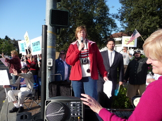 Cathy Speaking to Mission Viejo Tea Party