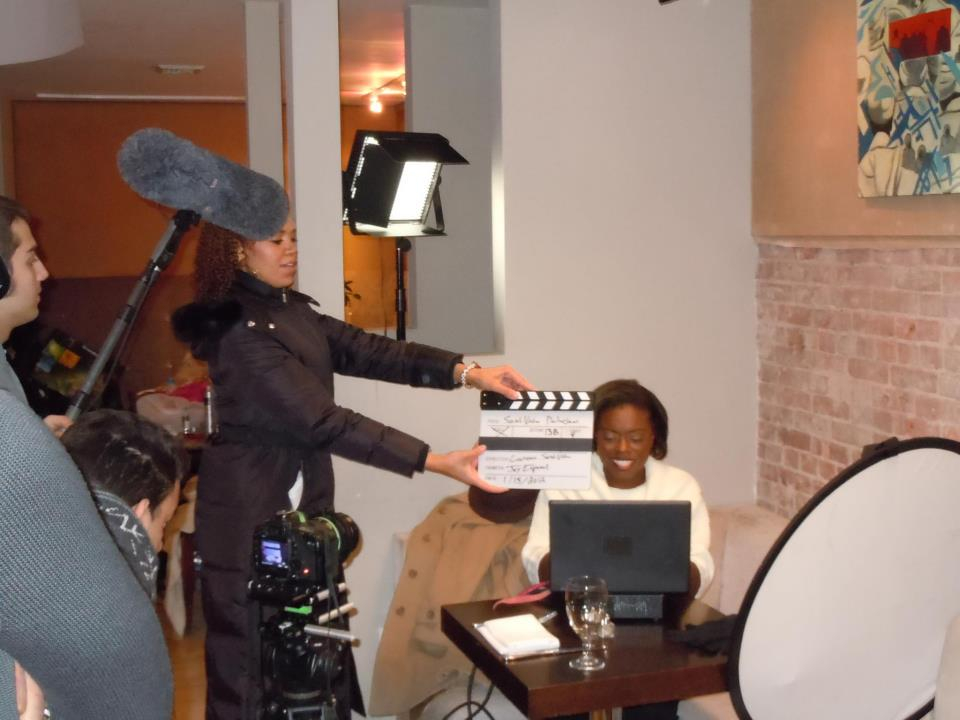 Author Cecilia Capers during day two of the book trailer shoot