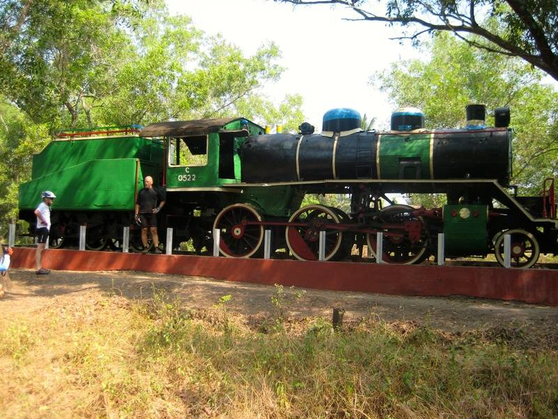 The engine at the start of the Death Railway