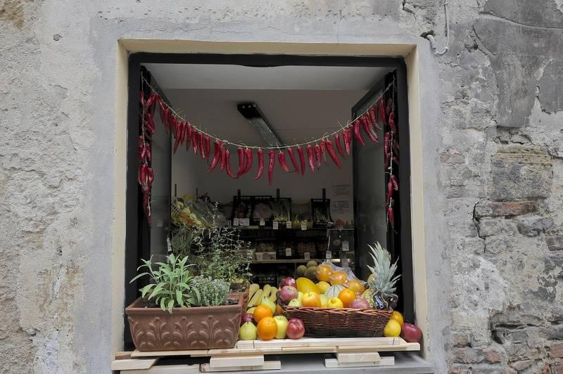 Shop window, Siena