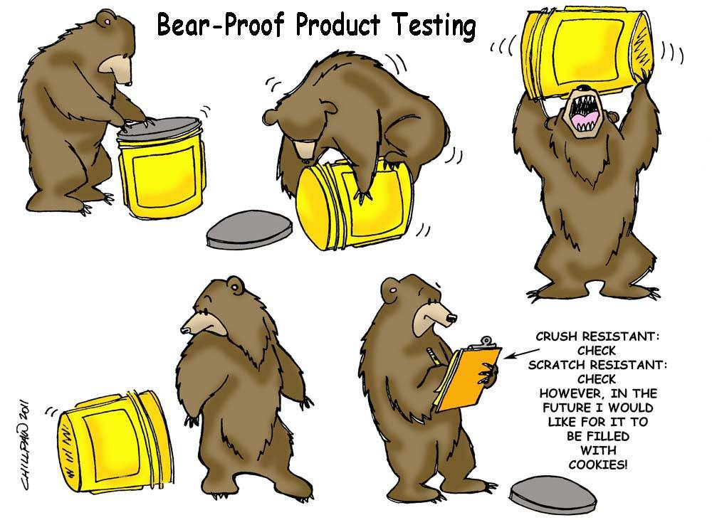 Bear-Proof Product Testing Division