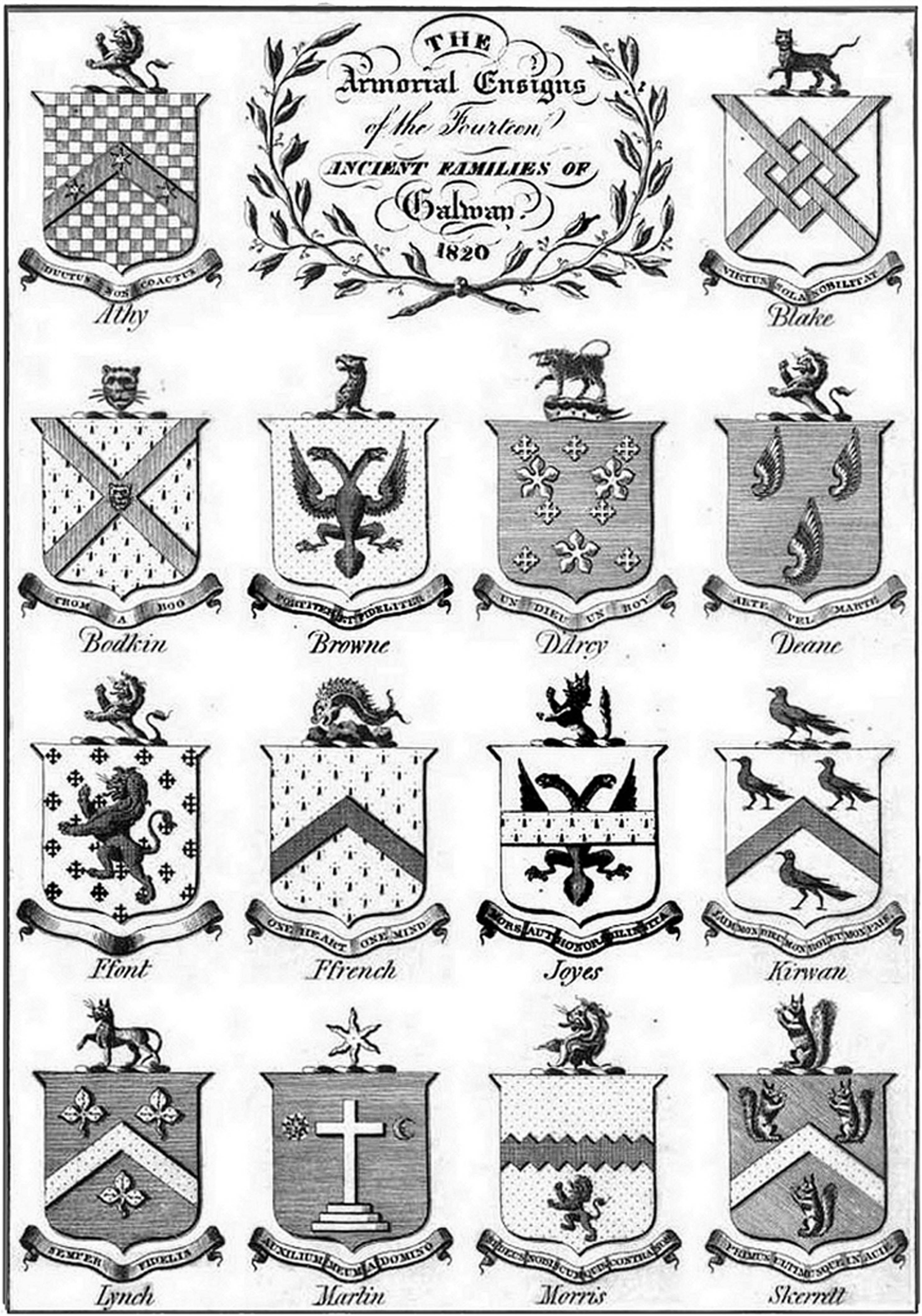Armorial Bearings of the fourteen ancient Families of the Town