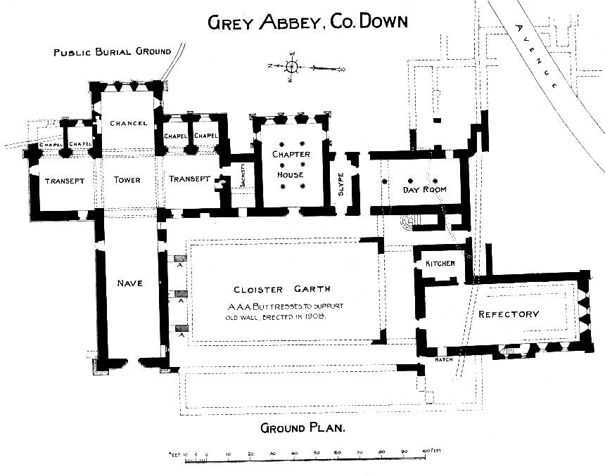 Greyabbey Ground Plan, Strangford, County Down