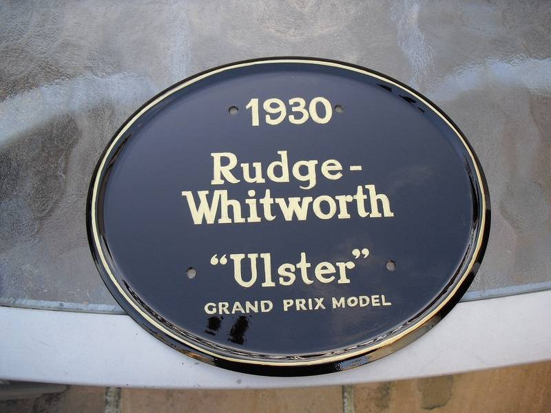 Rudge racing plate