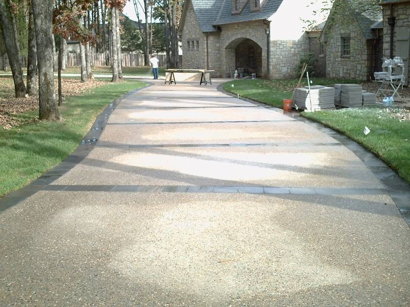 View of the drive way after cleaning