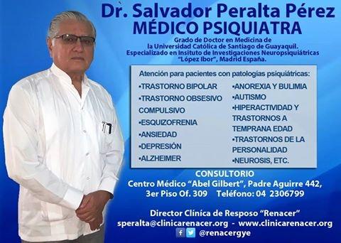 Dr. Salvador Peralta Pérez, MÉDICO PSIQUIATRA.