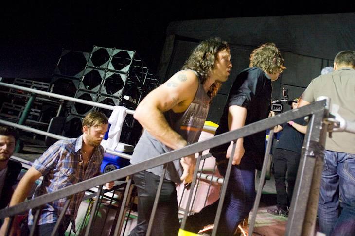 Backstage at Bonnaroo (11 Jun 2010)