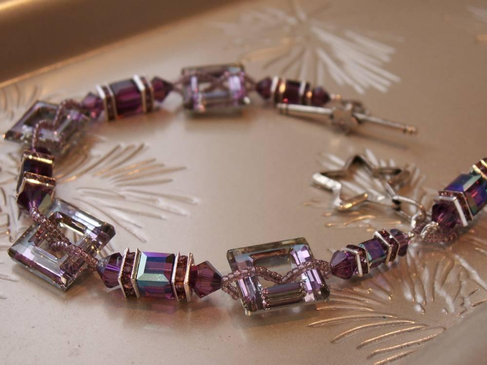 Swarovski Purple Star Bracelet