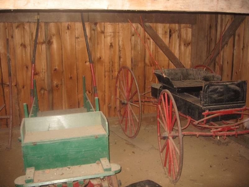 Carriage stored in the carriage barn
