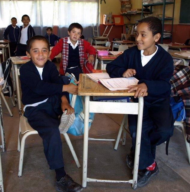 School children in Las Calavellinas