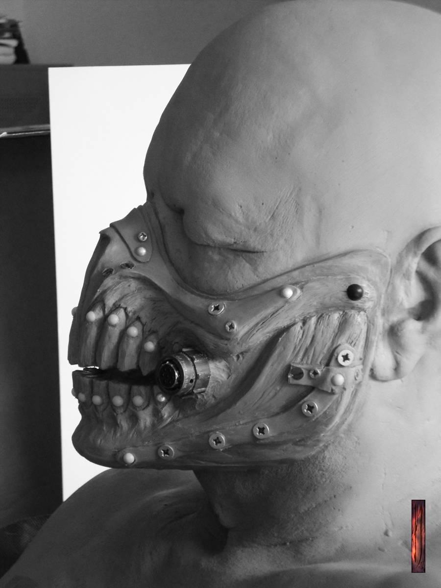 Early sculpt of immortan mask