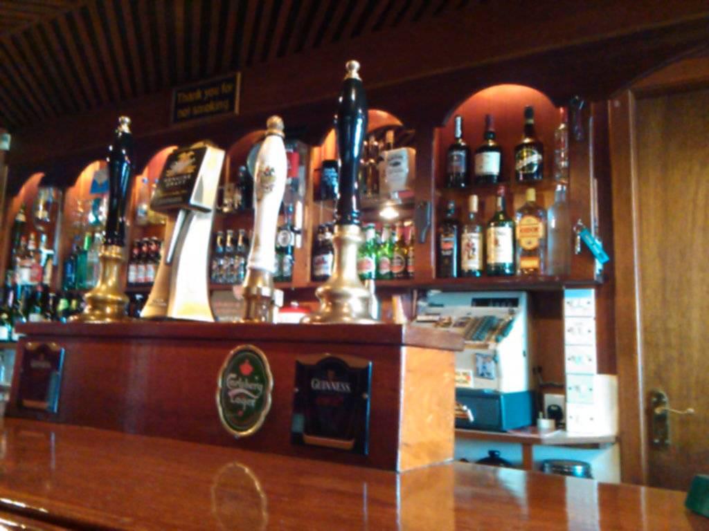 The bar pumps.