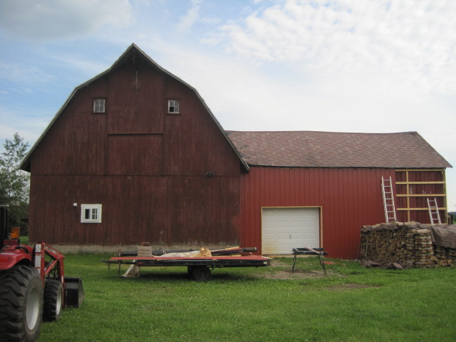 The main barn - stage two