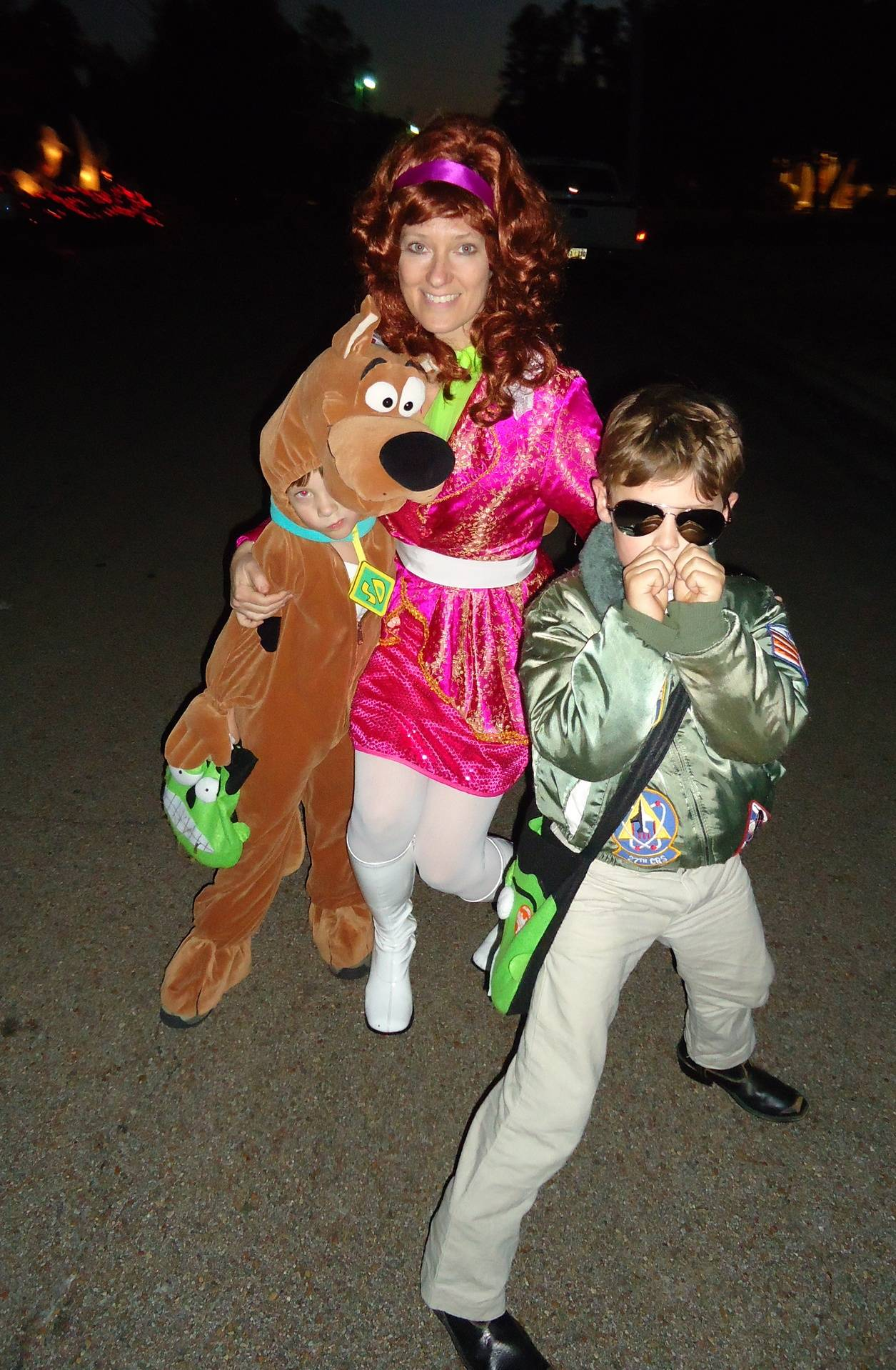 Scooby, Daphne, Top Gun Trick or Treating