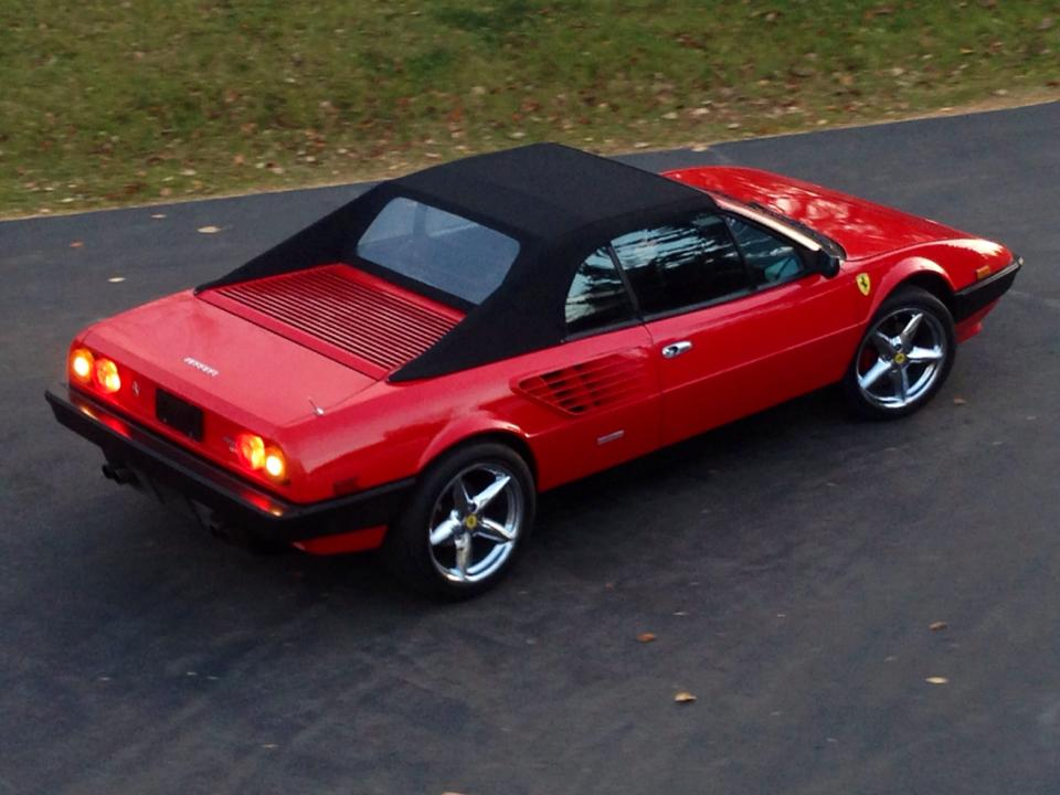 Ferrari Mondial leaves after new throttle cables and fuel lines
