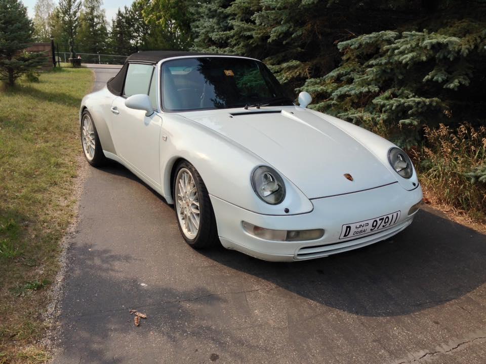 1997 993 C4 Cabriolet leaves after suspension work