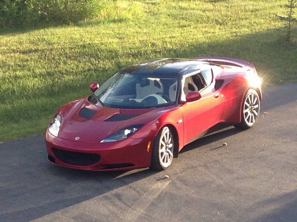 a Lotus Evora leaves after seasonal maintenance
