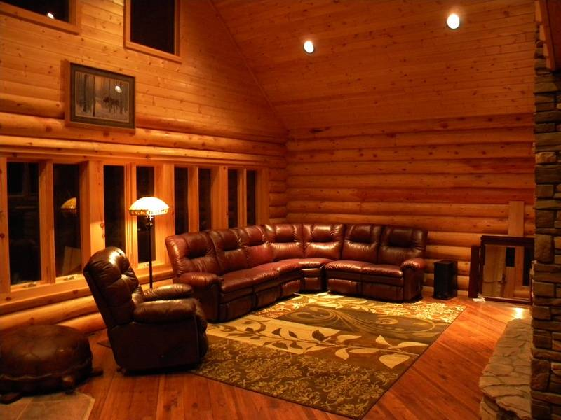Great room on a winter night