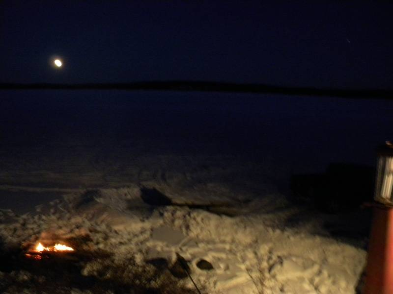Full moon rising,out for a snowmobile run