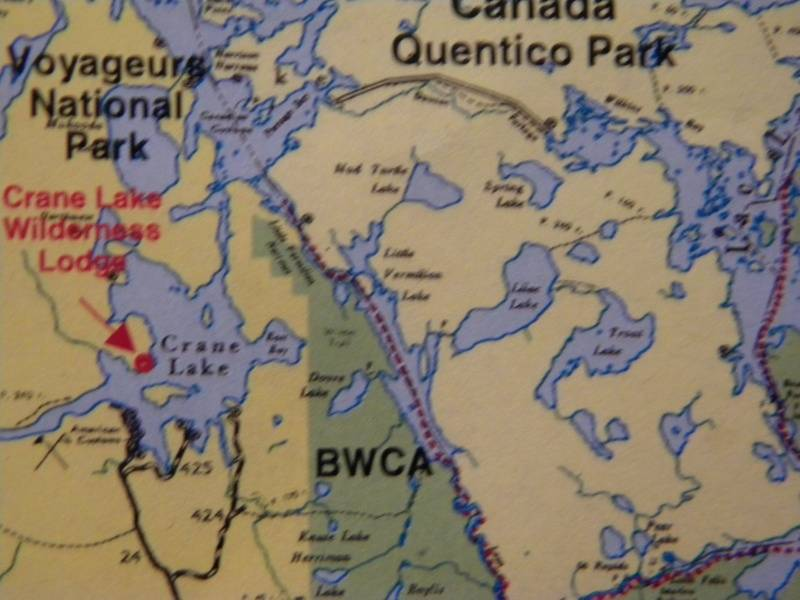 Map showing location