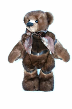 Real fur and leather bear