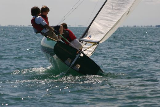 Juniors Sailing a Thistle
