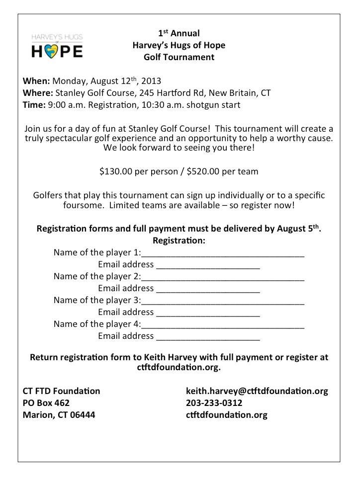 Golf Registration Form