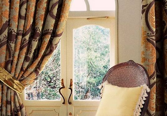 Heavy Textured Blackout Floral Jacquard Curtains Panel With Grommet-100L X 96L