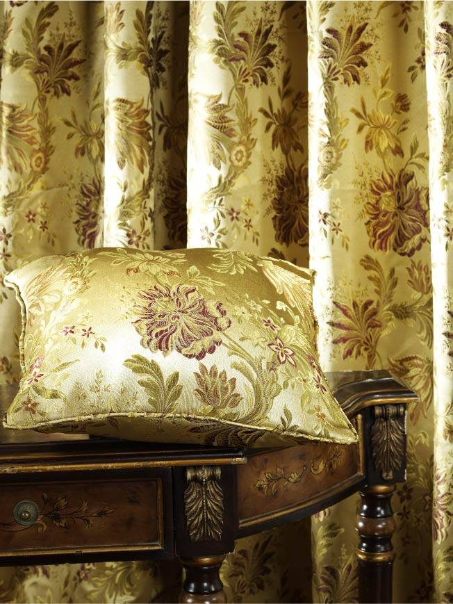 Jacquard Damask Vine Drapes and Curtains(A-135)