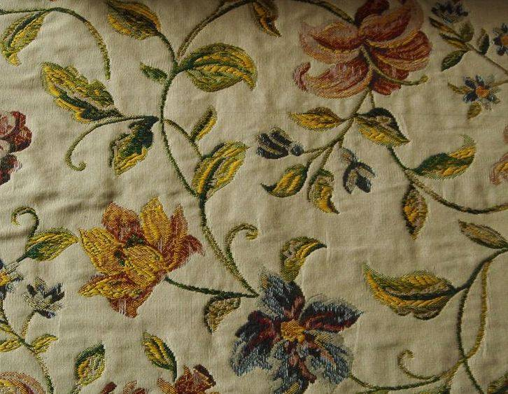Floral Jacquard Curtains & Drapes -132 inch