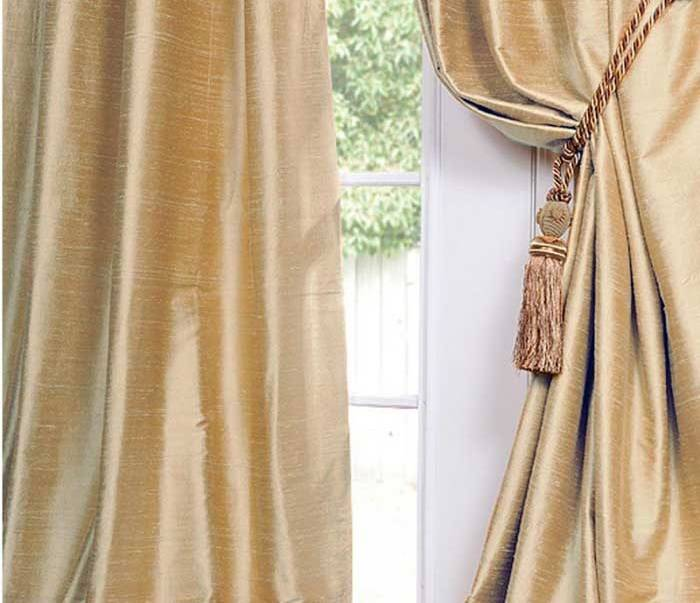 Luxury Custom Dupioni Silk and lined  Curtains, Drapes -132 inch